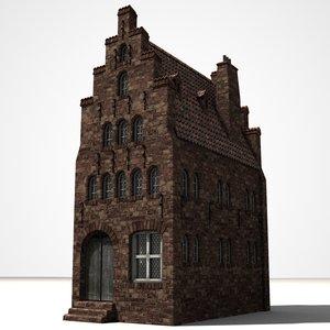 gothic house 3d model