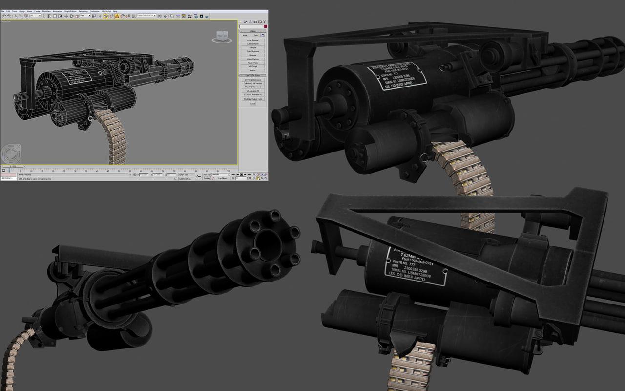 3d minigun gun