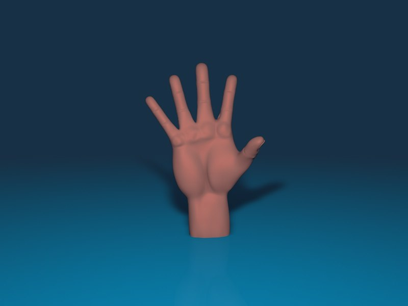 3d model hand rigged