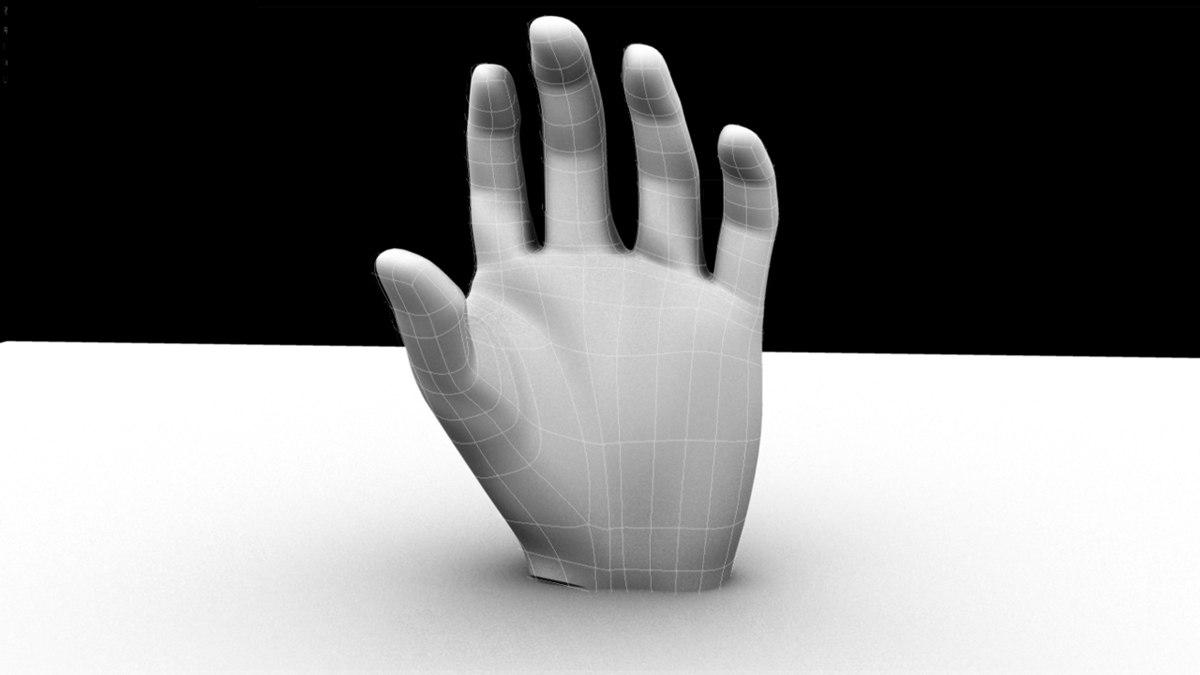 maya hand base
