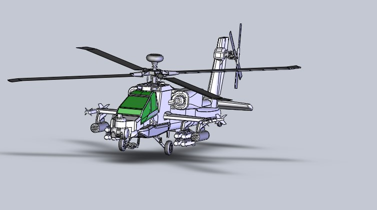 3d model ah64 apache helicopter
