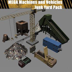 mega - junk yard 3d model