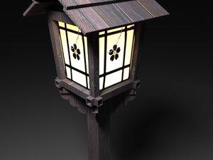 old japanese lamp 3d model