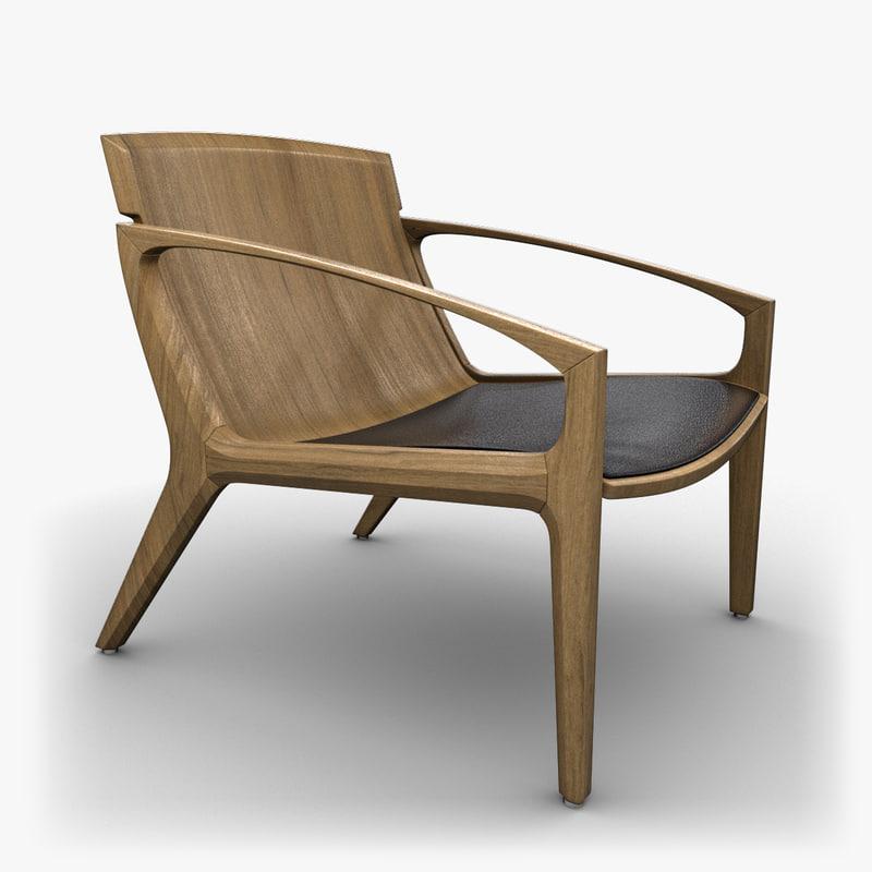 3d linna chair design model