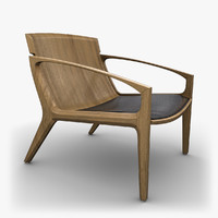 3d linna chair design model