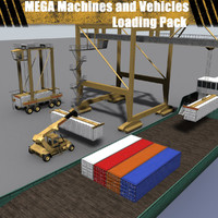 3d model mega machines vehicles -
