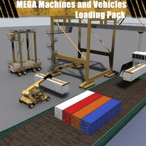 3d model mega machines vehicles -