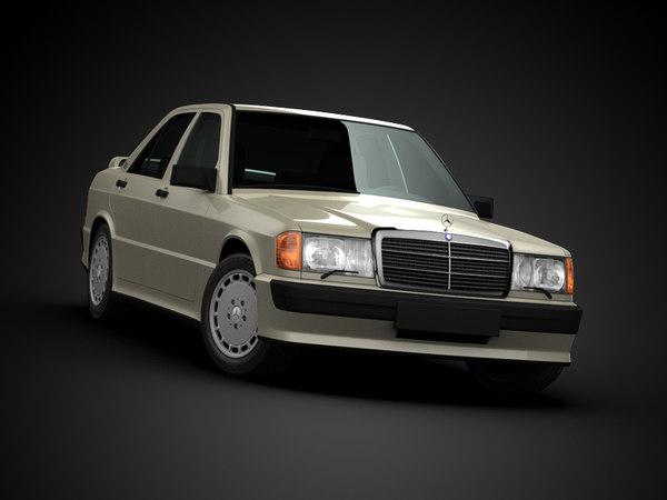 3d mercedes benz 190 model