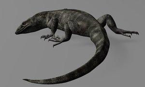 monitor lizard 3d model