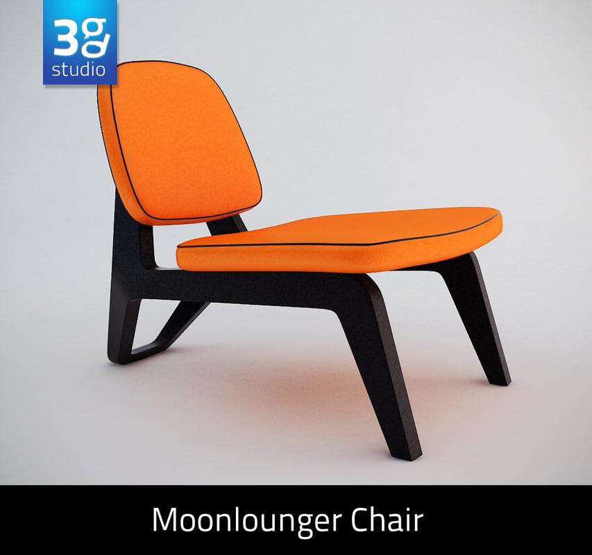 moonlounger lounge chair 3ds