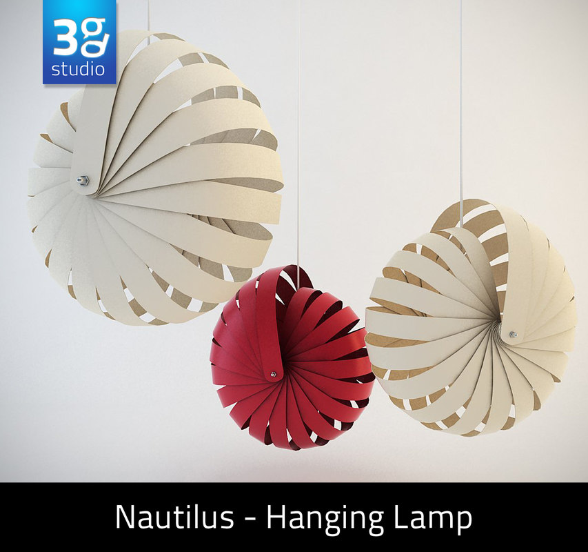 nautilus hanging lamp shade 3d max