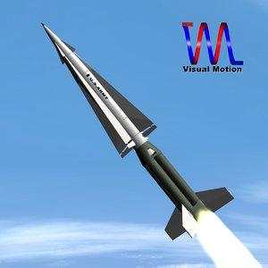 3d mim-14 nike hercules missile model
