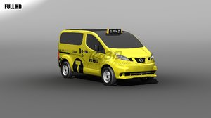 3d nissan nv200 nyc taxi model