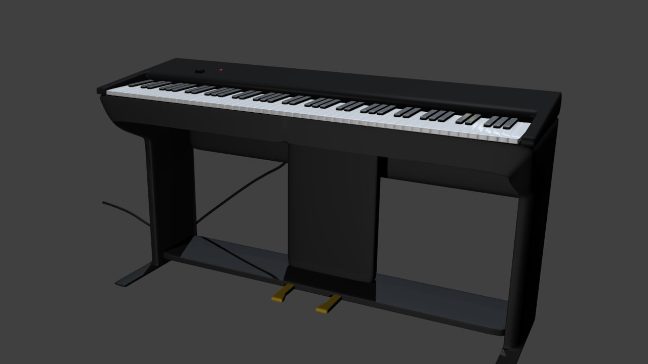 3d static digital piano model