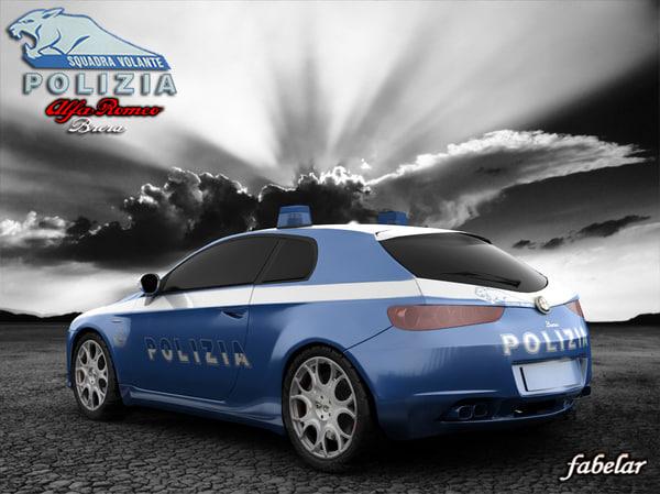 3d alfa romeo brera polizia