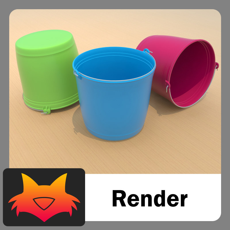 bucket cubeta 3d model