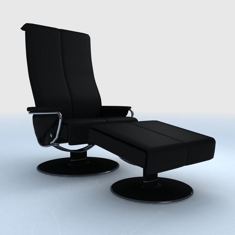 ekornes stressless blues recliner 3d max