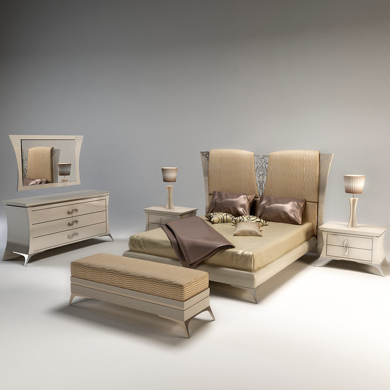 3d bedroom charme laccata