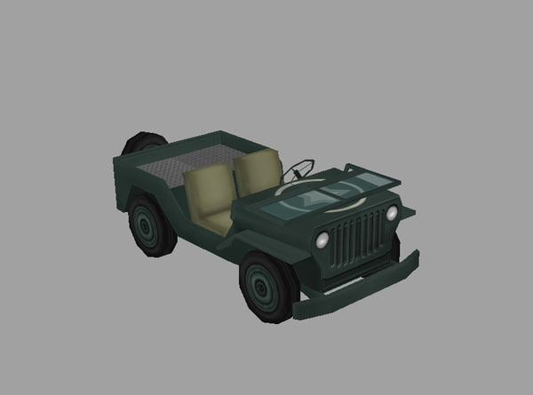 free jeep willys polys 3d model