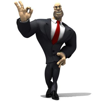c4d muscular cartoon toon