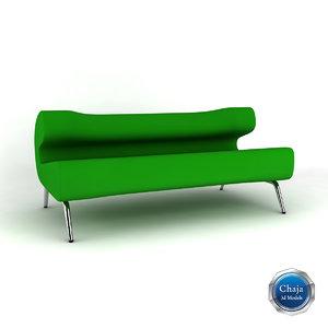 sofa couch armchair 3d model