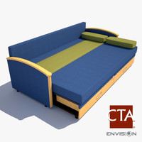 sofa sleeper hospital 3d model