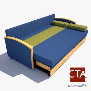 sofa sleeper hospital 3d model