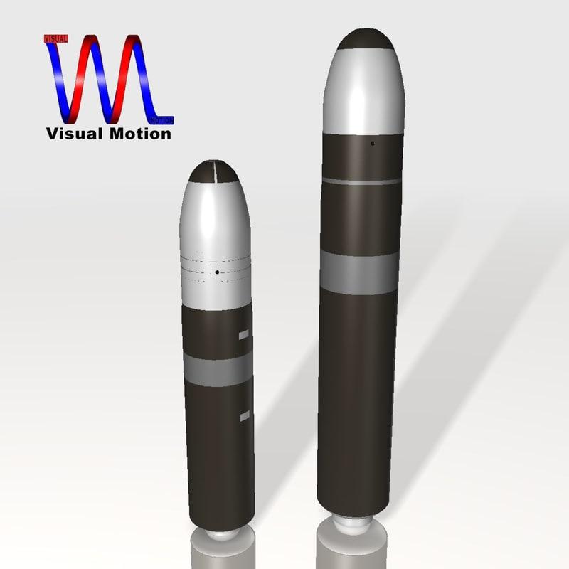 missile set navy trident 3d 3ds