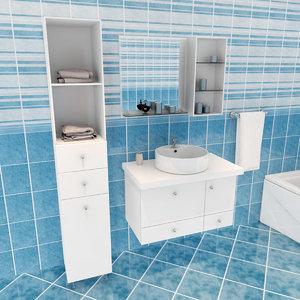 ol bathroom set 3d max