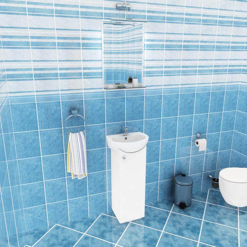 3d lus bathroom set