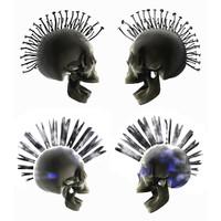 3d punk skull
