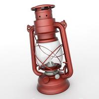 3d model vintage kerosene lantern