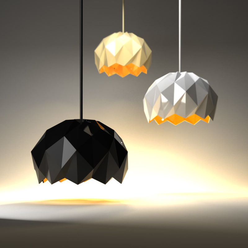 lamp d model - modern lamp d model