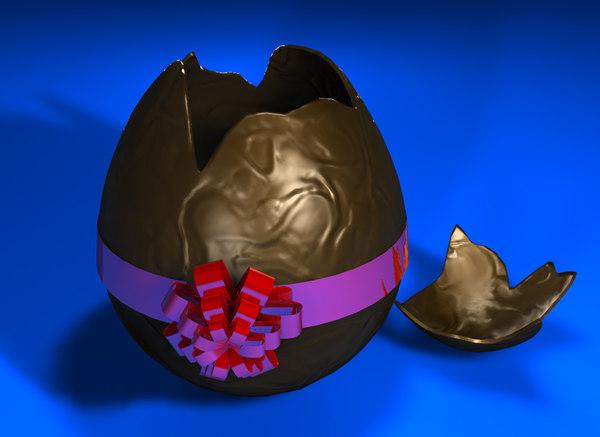 free broken egg 3d model