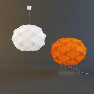 lamp ikea fillsta 3d model