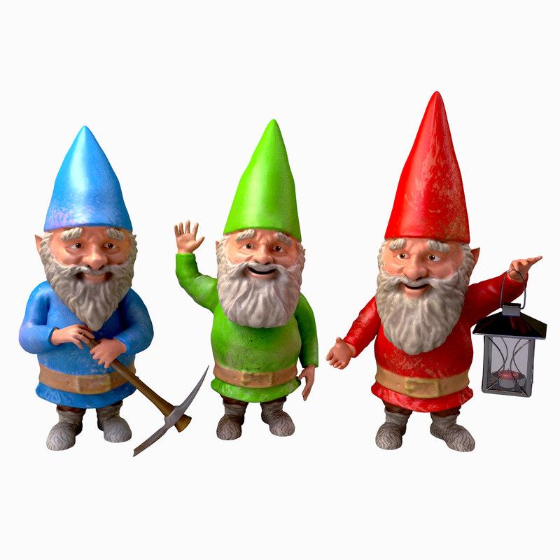 3ds max ornaments garden gnomes