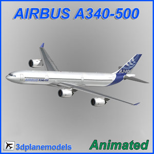 airbus a340-500 3d dxf