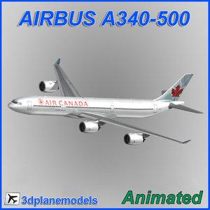 airbus a340-500 3d model
