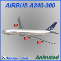 3d model of airbus a340-300