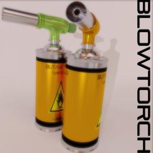 3d blowtorch scene