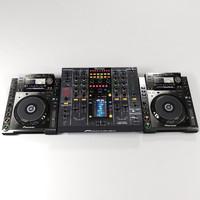 pioneer djm2000 mixer cdj2000 3d model