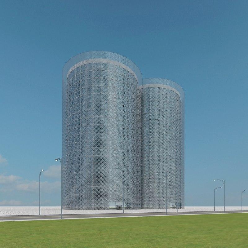 new skyscraper 80 3d model
