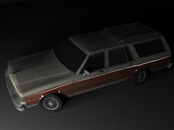 chevrolet caprice wagon 3d max