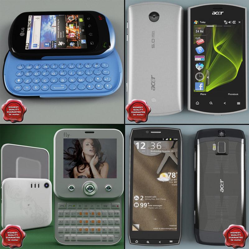 cellphones v14 3d model
