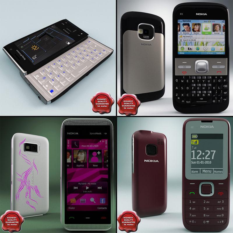 cellphones v20 c4d