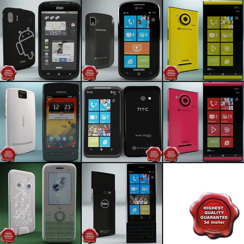 cellphones 46 phone 3d max