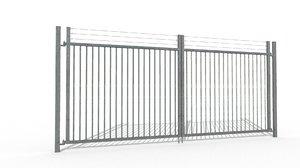 maya galvanized gate