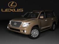lexus lx 3d max