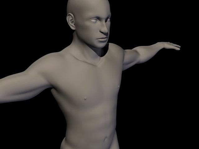 3d male human man