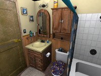 3d model bathroom toilet